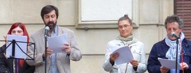 Dulcinea de Garrapinillos y el Caballero Don Bruño salieron a celebrar el Día del Libro
